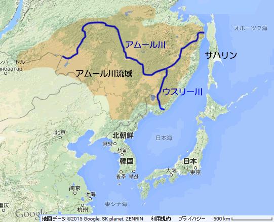 アムール川流域図