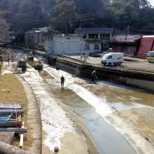 疎水清掃作業