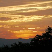 夕陽(19:00)